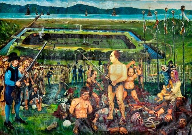 lukisan-gambaran-pembantaian-44-saudagar-bandaneira-oleh-belanda