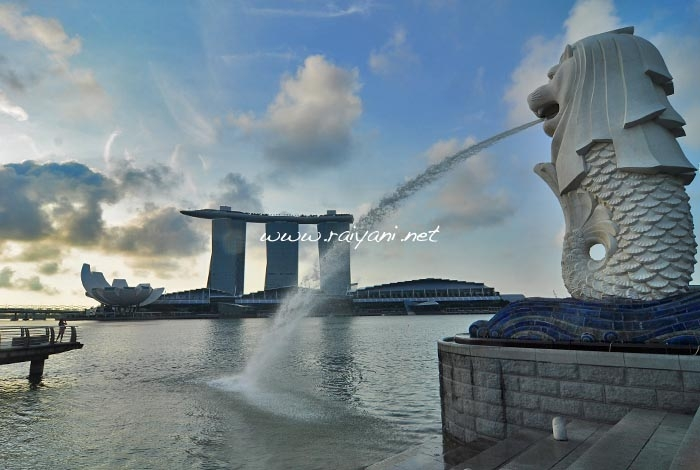 merlion-sunset