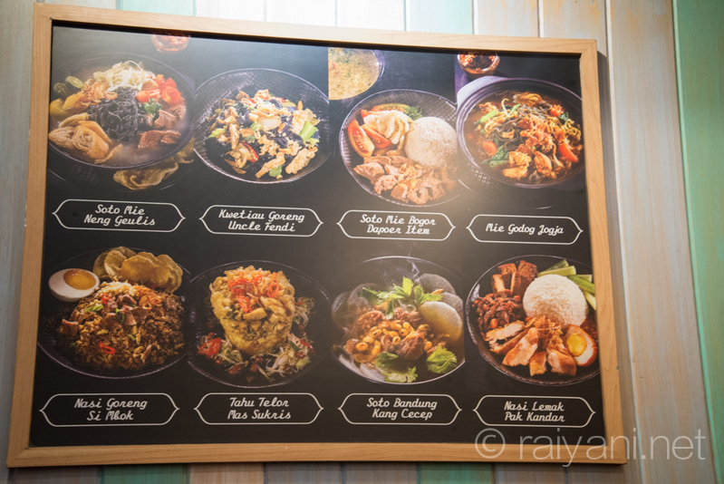 Aneka menu di Dapoer Item