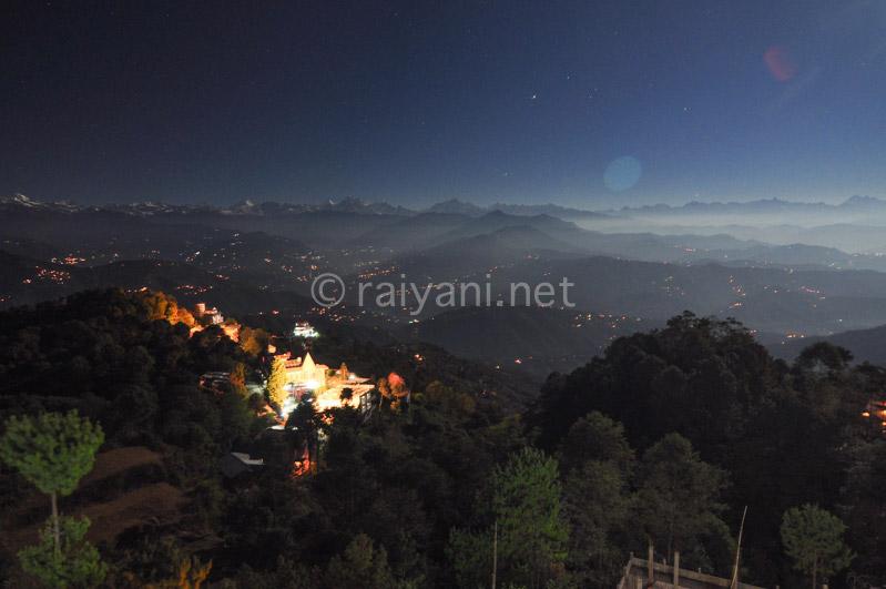 Malam Terang bulan di Nagarkhot