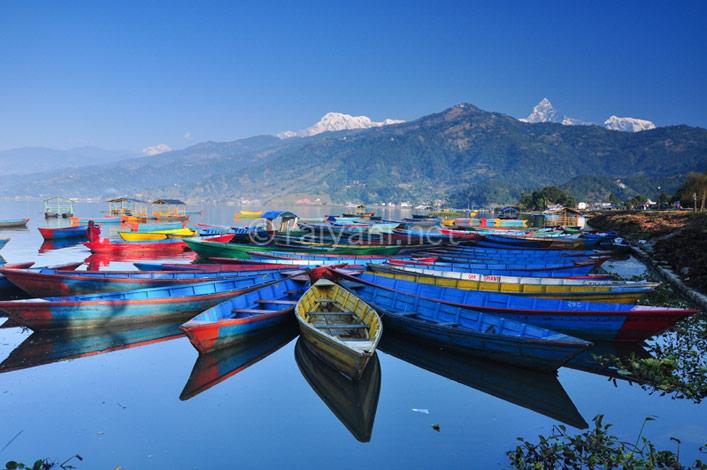 Phewa lake Pokhara_ Nepal