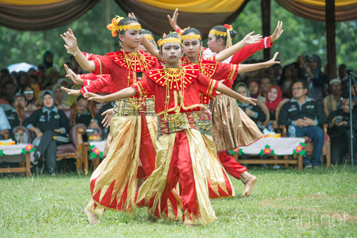 Tarian Panen padi memeriahkan acara pembukaan Festival Panen - raiyani 5804