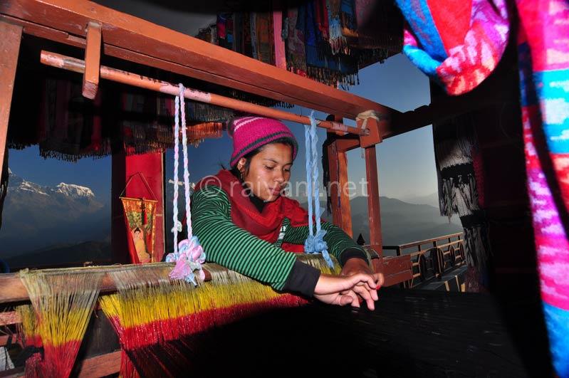 penenun di Nagarkhot