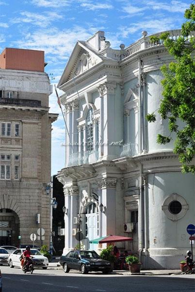 sudut kota dan bangunan tua